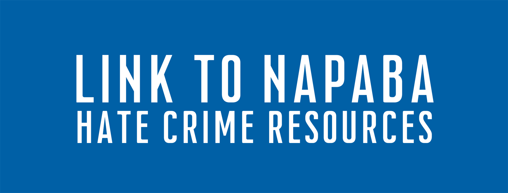 Link to NAPABA Hate Crime Resources